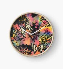 Swallowtail Butterflies on Black Lace Clock