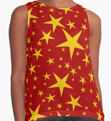 NDVH Stars (gold on red) Contrast Tank