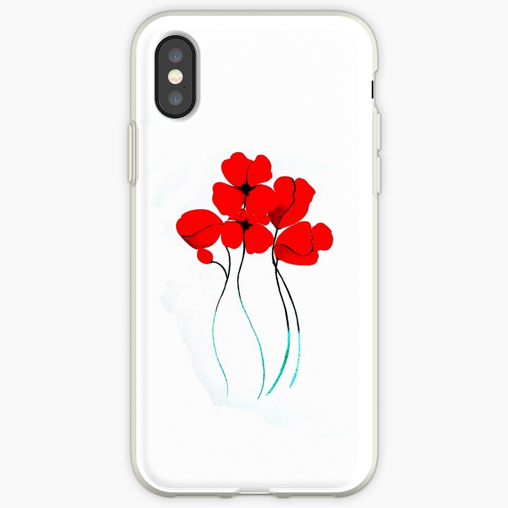 Poppies Funda y vinilo para iPhone