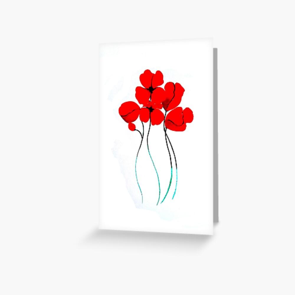 Poppies Tarjetas de felicitación