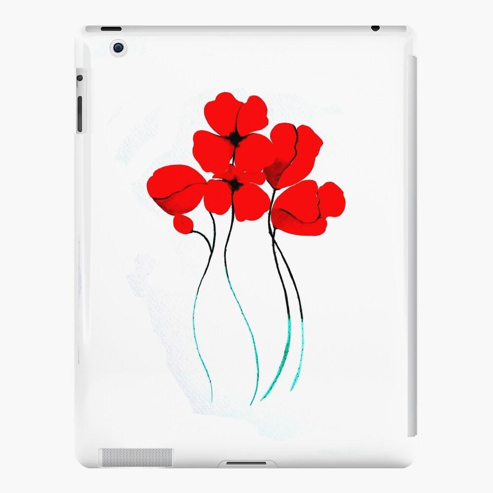 Poppies Funda y vinilo para iPad