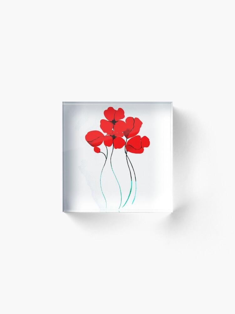 Vista alternativa de Bloque acrílico Poppies