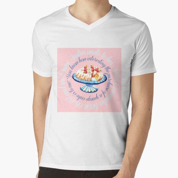 Jane Austen quote,  Bundt cake // Jane Austen cake quote // Jane Austen art V-Neck T-Shirt