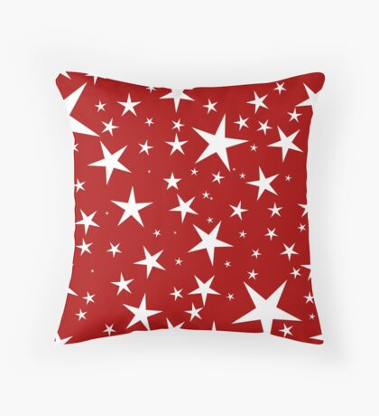 NDVH Stars (white on red) Throw Pillow