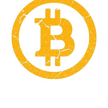 Vintage Bitcoin Logo with Distressed Retro Look Design by cooplar36