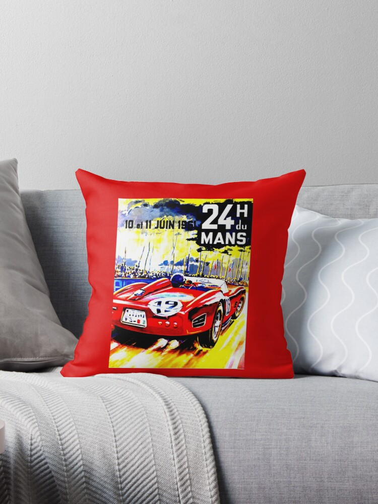 """""""MANS"""" Vintage Grand Prix Auto Race Advertising Print by posterbobs"""