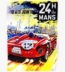 """MANS"" Vintage Grand Prix Auto Race Advertising Print Poster"
