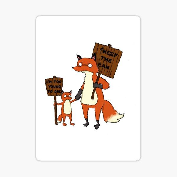 Fox Protest Sticker