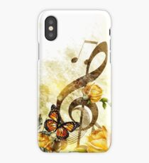 Butterfly Music Notes iPhone Case/Skin