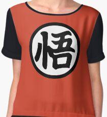 Goku Kanji Chiffon Top