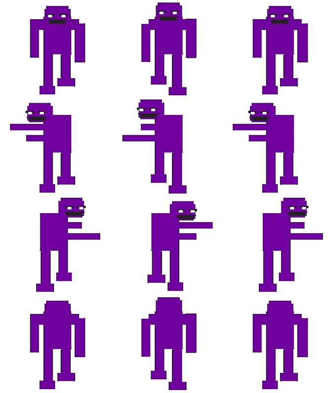 """""""FNAF: Purple Guy Sprites"""" by CyberIce-64 