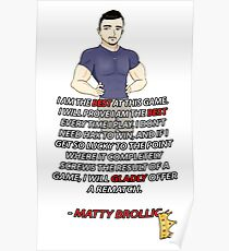 Athletisch Cocky Narcissistic @ $$ Loch Poster