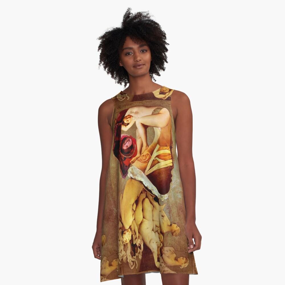 portrait of a Life Model. A-Line Dress Front