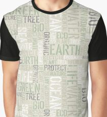 Ecology Words Graphic T-Shirt