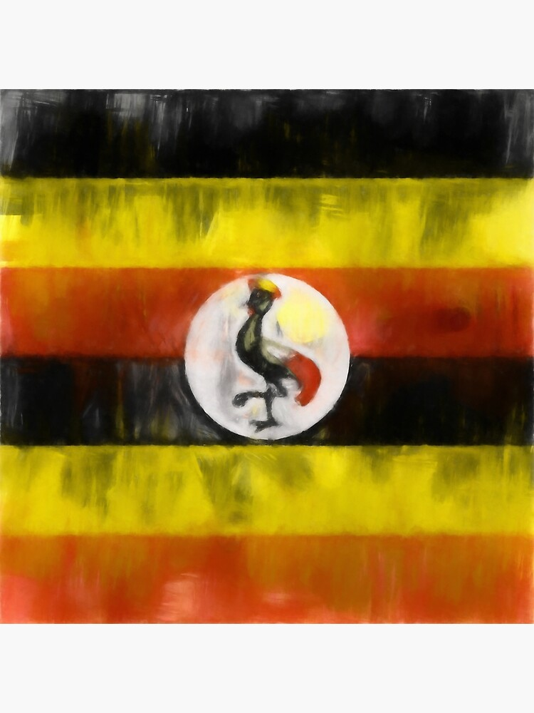 Uganda Flag Reworked No. 1, Series 1 by 8th-and-f