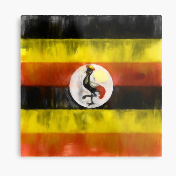 Uganda Flag Reworked No. 1, Series 1 Metal Print