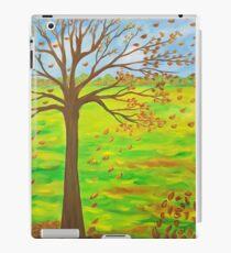 Fallen Leaves Blue Sky iPad Case/Skin