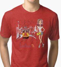 Girl in Lisbon Tri-blend T-Shirt