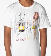 Girl in Lisbon Long T-Shirt