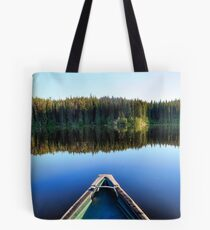 Canoeing on Lonely Lake Tote Bag