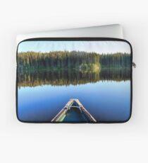 Canoeing on Lonely Lake Laptop Sleeve