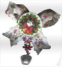 Christmas heart worming decoration Poster