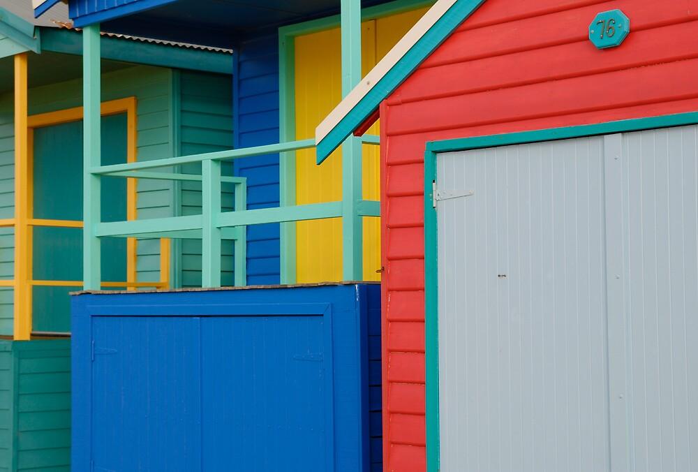 Beach Boxes by Roslyn Slater
