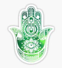 Green Hamsa Hand Sticker