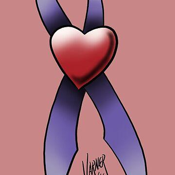 Heat and Cancer Ribbon by Steve-Varner