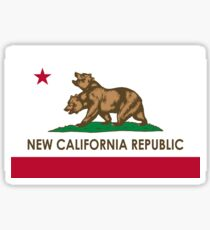 Funny New California Republic Graphic: California Flag Sticker