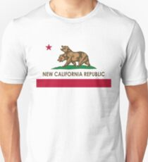 Funny New California Republic Graphic: California Flag Unisex T-Shirt