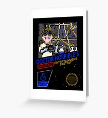 NINTENDO: NES DOCTOR HORRIBLE  Greeting Card