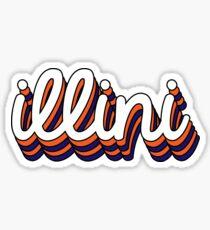 University of Illinois - Style 7  Sticker
