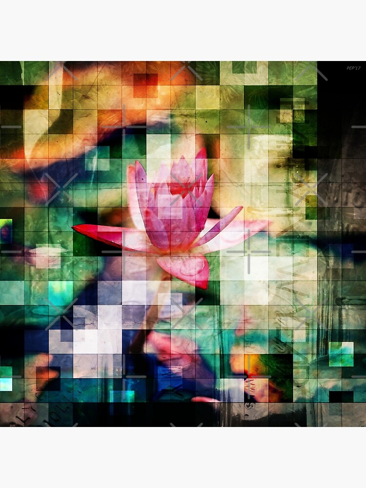 Abstract Flowers And Glass Mosaic by perkinsdesigns