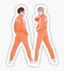 BTS SOPE In Orange Sticker
