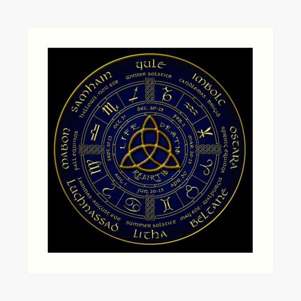 Pagan wheel of the year Art Print