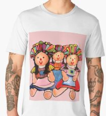 Mexican Maria  Dolls In Pink  Men's Premium T-Shirt