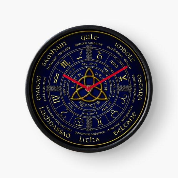 Pagan wheel of the year Clock