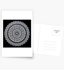 Weiße Tinten-Mandala Postkarten