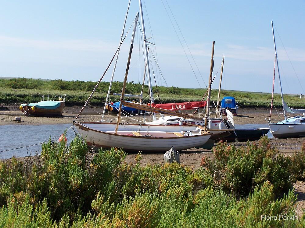 Blakeney Boats by Fiona Parkin