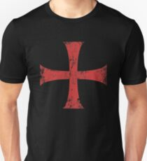 Distressed Crusader Knights Templar Cross Unisex T-Shirt
