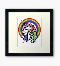 UNICORN RAINBOW BIG SISTER LOVE UNICORNS T SHIRT Framed Print
