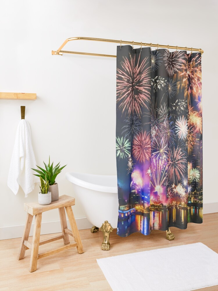 Alternate view of Happy New Year Shower Curtain