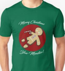 Gingerbread Man Christmas - Green T-Shirt