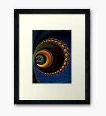 """""""Cellular""""   Spiral Fractal Art Framed Print"""
