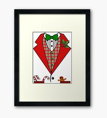 Christmas Tuxedo Suit T-shirt Framed Print