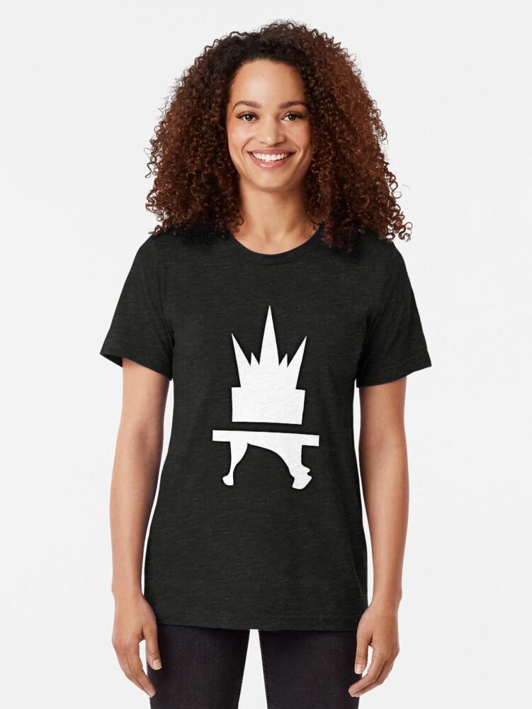 Alternate view of Crazyblox Logo Tri-blend T-Shirt