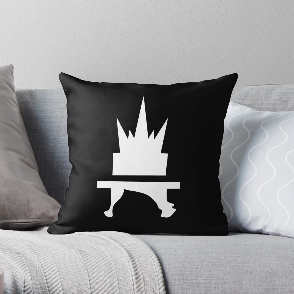 Crazyblox Logo Throw Pillow