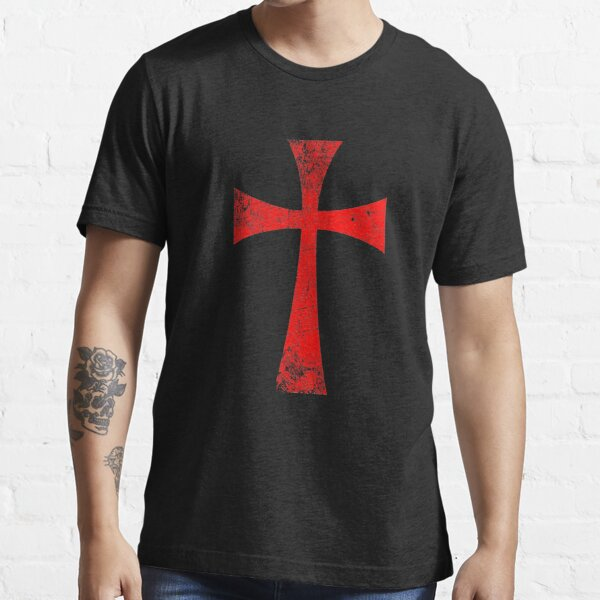 Distressed Crusader Knights Templar Cross Essential T-Shirt
