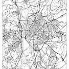 Seville Map Minimal by HubertRoguski